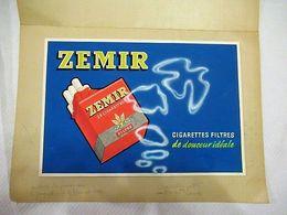 Zemir (cigarette) - Artwork Sur Carton à La Gouache - 330 X 225 Mm - Reclame-artikelen