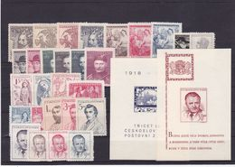 (K 6467) Tschechoslowakei, Kpl. Jahrgang 1948** - Czechoslovakia