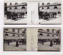 Photo Stéréo Sur Plaque De Verre / Lot De 2 / Vichy 1913 / Station Des Anes - Glass Slides