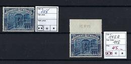 Belgique 1915. Roi Albert à Furnes - Veurne. N° 148 **     Les 2 Timbres - Voir Scan Recto/verso. - 1915-1920 Albert I
