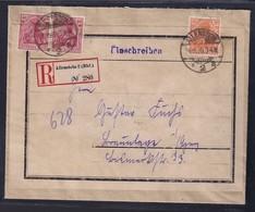 DR. R-Brief Mit Mi.-Nr.  141 + 145 Aus Allenstein - Unclassified