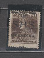 ☀ SHS CROATIA 1918 King Carl - KARLO Ovpt, Nicely Shifted , Movement Of Print -  Hungary E - Croacia