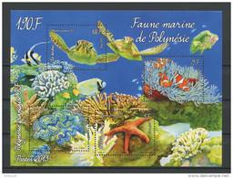 POLYNESIE 2013  Bloc N° 39 **  Neuf  MNH Superbe Faune Marine Poissons Tortues Etoile Coquillages Journée Océan Turtle - Blocks & Sheetlets