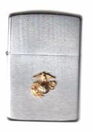 Zippo - Sigle, Marine, Terre, Aigle - Acier Brossé, Année 1991 (jamais Servi) -  SB - 20 - Zippo