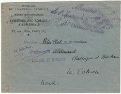 ESC Franchise Ministre De L'Instruction Publique Et Des Beaux Arts  OMEC Paris 1947 - 1921-1960: Periodo Moderno