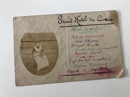 Carte Postale Ancienne (1906) Grand HOTEL DU CAMP Adressée à François VAUGVAN, Vice-Président Du Grisette Club - Mons