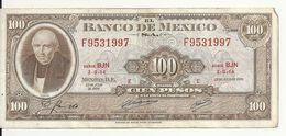 MEXIQUE 100 PESOS 1970 VF P 61 E - Mexique