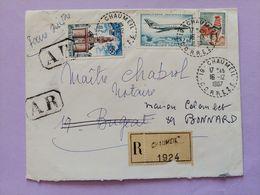 Enveloppe Maitre Chabrol Maison Colombet Chaumeil Correze Bonnard Yonne Recommandé AR - Otros