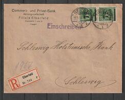 Deutsches Reich / 1923 / Mi. 288 MeF Auf Infla-Reco-Brief Ex Elberfeld, Rs. Vignette (CH93) - Germania