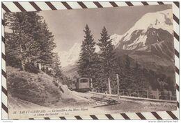 4AF1354 Saint Gervais Cremaillere Du Mont Blanc Et Dome Du Gouter  2 SCANS - Saint-Gervais-les-Bains