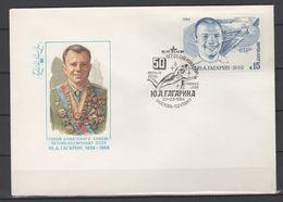 USSR - Soviet Union 1984 Sowjetunion Mi 5361FDC Jurij Gagarin's 50th Birthday / 50. Geburtstag Von Jurij Gagarin - FDC & Commemoratives
