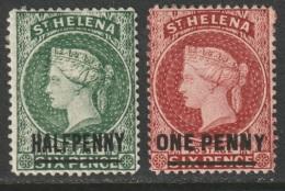 St Helena 1884 Sc 34-5  MH Some DG - St. Helena