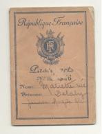 Passeport, Reisepass, Passport,..Français De 1948 - Différents Séjours à Liège Avec Timbres Et Cachets (B283) - Documenti Storici