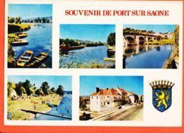 X70019 PORT-sur-SAONE 70-Haute-Saône Souvenir Multivues Flamme Poste 1973 CIMCROME COMBIER - France