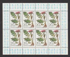 USSR (Russia) MH- 5531 - Mini Sheet -1985 -Rhaponticum Carthamoides- MNH - 1923-1991 USSR