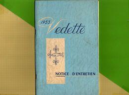 Notice D'entretien Pour Voiture VEDETTE 1953 - Cars