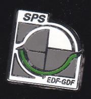 66271-Pin's.SPS.EDF-GDF.éléctricité.signé Pichard. - EDF GDF