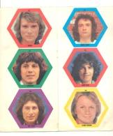 Vedette, Chanteur, - Feuille Avec 6 Autocollants - Johnny, Lenorman, Sardou, Brant Clerc Et Frédéric François (B283) - Affiches & Posters