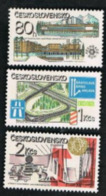 CECOSLOVACCHIA (CZECHOSLOVAKIA) -  SG 2579.2581 -  1981 SOCIALIST CONSTRUCTION (COMPLET SET OF 3)  -    MINT** - Czechoslovakia