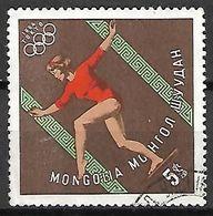 MONGOLIE    -     GYMNASTIQUE  .  JO De Tokyo 1964  -    Oblitéré - Gymnastics