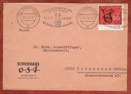 Brief, Wilhelm Busch, MS Band 800-Jahrfeier Muenchen, Nach Pirmasens 1958 (96388) - Storia Postale