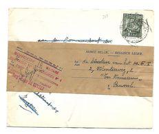 N°768  1,75 Fr. MIlitaire Brief Uit Tongeren  Doorgestuurd Met  Bandelette ARMEE BELGE....naar Brussel 8.12.1949 - 1948 Export