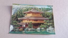 CPSM 3 D RELIEF KINKAKUJI TEMPLE KYOTO 12 TOPPAN 1970 - Buildings & Architecture