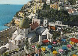 POSITANO-SALERNO-LA SIRENUSE-PANORAMA-CARTOLINA-VERA FOTOGRAFIA  VIAGGIATA IL 12-5-1971 - Salerno