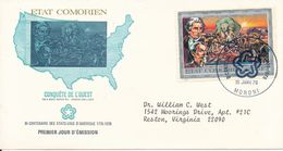 Comores FDC 15-1-1976 American Independence With Cachet - Us Independence
