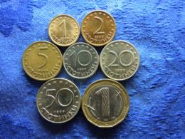 BULGARIA 1, 2 STOTINKI 2000, 5, 10, 20, 50 STOTINKI 1999, 1 LEV 2002 KM237-KM242, KM254 (7) - Bulgaria