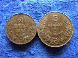BULGARIA 2 LEVA 1941 KM38a, 5 LEVA 1941 KM39a IRON - Bulgaria
