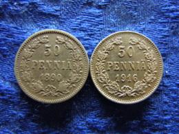 FINLAND 50 PENNIA 1890, 1916, KM2.2 - Finlandia