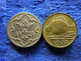DANZIG 5 PFENNIG 1923 KM142, 1932 KM151 - Polen