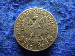 POLAND 5 ZLOTYCH 1933, KM21 - Polen