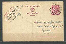 713 Op Postkaart Gestempeld TOURNAI 2 C - 1946 -10%