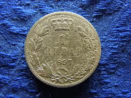 SERBIA 1 DINAR 1897, KM21 Scratched - Serbia