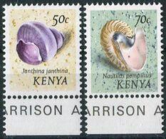Kenya 1974. Michel #42,44-II MNH/Luxe. Animals. Molluscs Of The Sea (Ts18) - Kenia (1963-...)