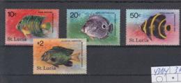Santa Lucia Michel Cat.No. Mnh/** 431/434 Fish - St.Lucia (1979-...)