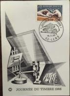 Journée Du Timbre 1966 - Timbre - Cachet 19/03/1966 (62- Lens - Pas De Calais), Gravure Illustrateur Bequet - Lens