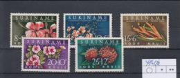 Suriname Michel Cat.No. Mnh/** 416/420 Flowers - Suriname
