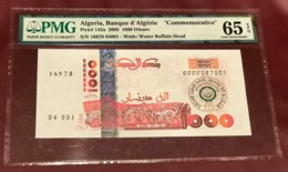ALGERIA ALGERIE 1000 DINARS NOTE 2005 PMG GEM UNC 65 PICK 143a COMMEMORATIVE - Algerien