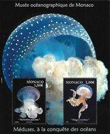 Monaco 2015,Jellyfish From The Aqua Museum, MNH S/S - Ungebraucht