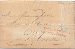 """1876 LAC De PARIS Pour NANTES Avec"""" Beau DE POSTES CHbre DES DEPUTES """" En Rouge Taxe 7 - 1849-1876: Klassik"""