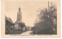 Cpa Chavannes-les-Grands - Intérieur Du Village Et L'église / Cachet Militaire 67ème R.A ( Verso). - Other Municipalities