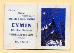 Petit Almanach Calendrier Publicitaire. Maison Eymin, Maillots De Bain, Lingerie à Villefranche-sur-Saône. - Formato Piccolo : 1961-70