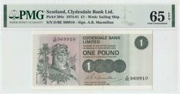 1.2.1980 CLYDESDALE BANK SCOTLAND ONE POUND (( PMG 65 EPQ )) - [ 3] Scotland