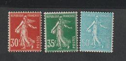 Timbres 1937 - 39 -    N°360 - 362   Type Semeuse Fond Plein -  Neufs Sans Charnière - - Ungebraucht