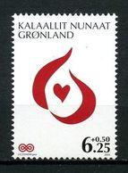 GROENLAND 2009  N° 509 ** Neuf MNH Superbe C 2,70 € Coeur Au Profit De La Lutte Contre Le Cancer - Greenland