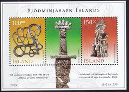 Island Islande Iceland Bloc Yvt 38 Mnh Neuf Sans Charniere Musee National - Blocks & Sheetlets