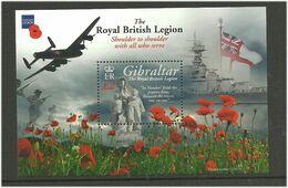 "Gibraltar 2011 British War Veterans Organization ""Royal British Legion"": Military Operations Mi Bloc 99 MNH(**) - Gibraltar"